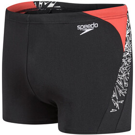 speedo Boom Splice Short de bain Homme, black/white/lava short